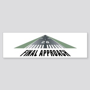 Aviation Final Approach Bumper Sticker