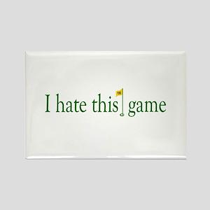 I Hate Golf Rectangle Magnet