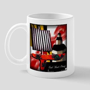 """Crab Boat: O"" flag Mug"