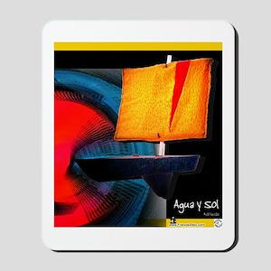 """Agua y Sol"" globe vertical Mousepad"