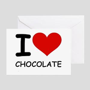 I LOVE CHOCOLATE Greeting Card