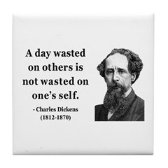 Charles Dickens 20 Tile Coaster