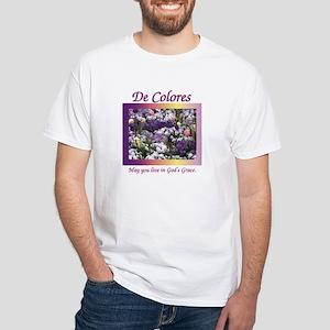 Flower Bed of De Colores Grac White T-Shirt
