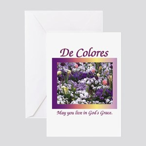 Flower Bed of De Colores Grac Greeting Card
