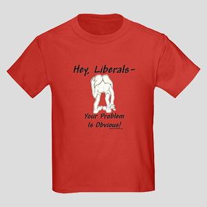 """""""Liberal's Problem"""" Kids Dark T-Shirt"""