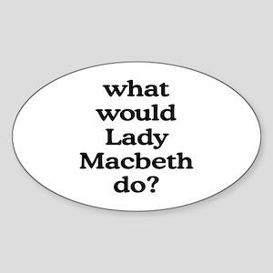 Lady Macbeth Oval Sticker