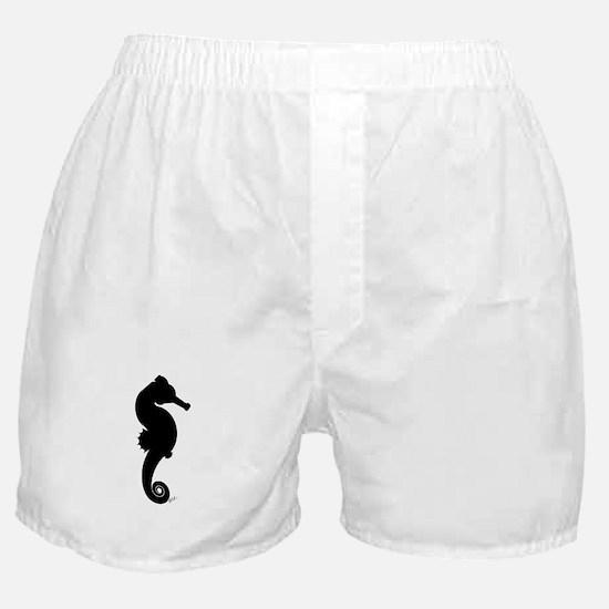 Seahorse (black) Boxer Shorts
