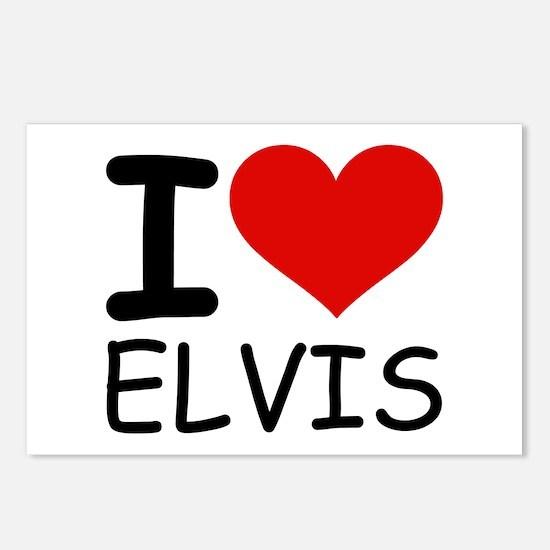 I LOVE ELVIS Postcards (Package of 8)