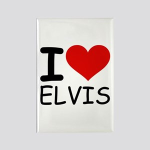I LOVE ELVIS Rectangle Magnet