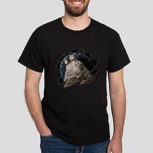 See Through Wolf Dark T-Shirt