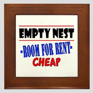 Empty Nest Framed Tile