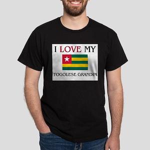 I Love My Togolese Grandpa Dark T-Shirt