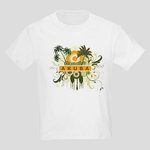 Palm Tree Aruba Kids Light T-Shirt