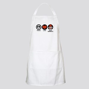 Peace Love Sock Monkeys BBQ Apron