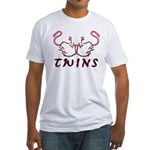 Twins Licking Outwards Fitted T-Shirt