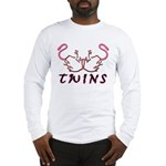 Twins Licking Outwards Long Sleeve T-Shirt