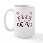 Twins Licking Outwards Large Mug