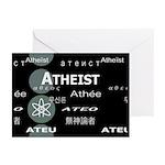 ATHEIST INTERNATIONAL DARK Greeting Cards (Pk of 1