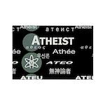 ATHEIST INTERNATIONAL DARK Rectangle Magnet (100 p