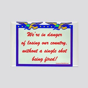 """""""Losing Our Country!"""" Rectangle Magnet"""