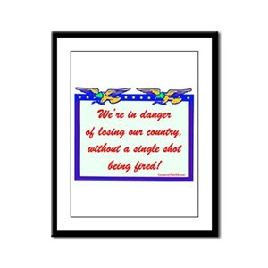 """Losing Our Country!"" Framed Panel Print"