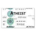 ATHEIST INTERNATIONAL Rectangle Sticker