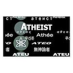 ATHEIST INTERNATIONAL DARK Rectangle Sticker