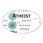 ATHEIST INTERNATIONAL Oval Sticker (50 pk)