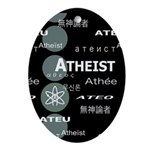 ATHEIST INTERNATIONAL DARK Oval Ornament