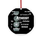 ATHEIST INTERNATIONAL DARK Ornament (Round)