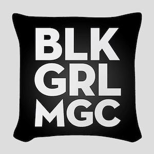 BLK GRL MGC Woven Throw Pillow