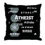 ATHEIST INTERNATIONAL DARK Throw Pillow