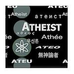 ATHEIST INTERNATIONAL DARK Tile Coaster