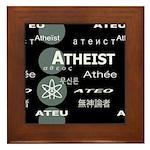 ATHEIST INTERNATIONAL DARK Framed Tile