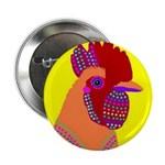 "Rooster 2.25"" Button (10 pack)"