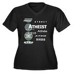 ATHEIST INTERNATIONAL Women's Plus Size V-Neck Dar