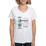 ATHEIST INTERNATIONAL Women's V-Neck T-Shirt