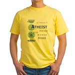 ATHEIST INTERNATIONAL Yellow T-Shirt