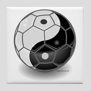 Ying Yang Soccer Ball Tile Coaster