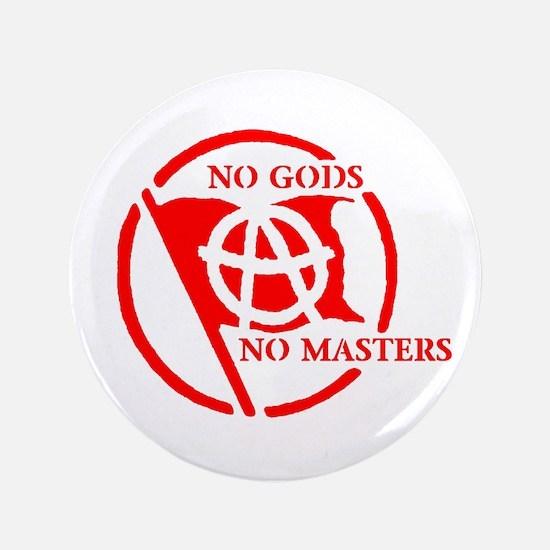 """NO GODS - NO MASTERS 3.5"""" Button"""