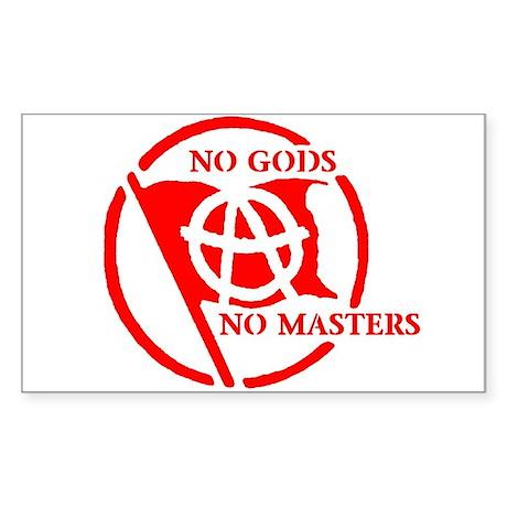 NO GODS - NO MASTERS Rectangle Sticker