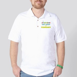 Engineers are born in February Cbv9q Golf Shirt