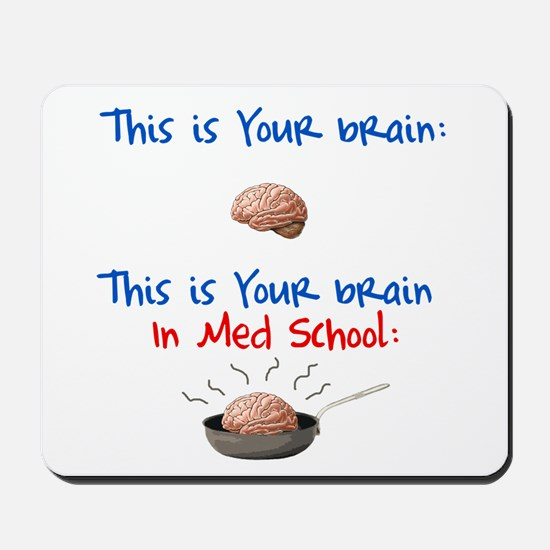 Brain in Med School Mousepad