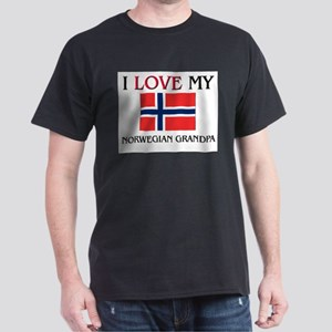 I Love My Norwegian Grandpa Dark T-Shirt