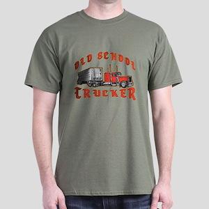 Old School Trucker Dark T-Shirt