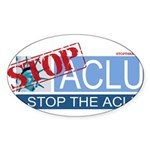 Stop Sign Oval Sticker