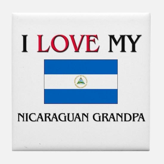 I Love My Nicaraguan Grandpa Tile Coaster