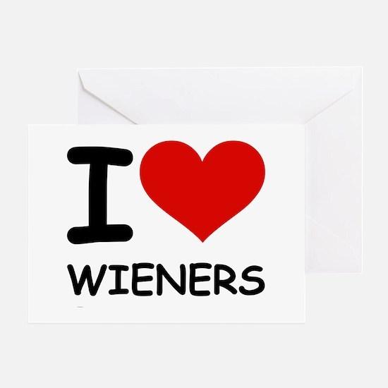 I LOVE WIENERS Greeting Card