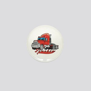Truckin' Mini Button