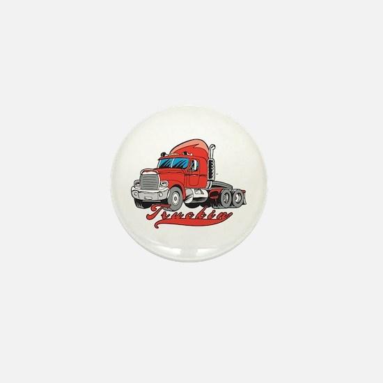Truckin' Mini Button